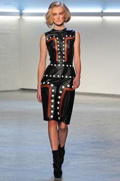 Bold Leather Dress by Rodarte, Fall 2012.  Love the inspiration from Australian Aboriginal Art!