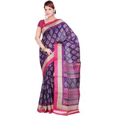 Eyecatchy Bhagalpuri Print Festive Wear & Party Wear Saree at just Rs.499/- on www.vendorvilla.com. Cash on Delivery, Easy Returns, Lowest Price.