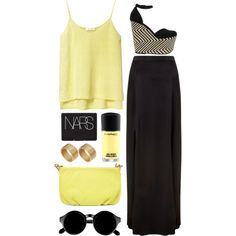 yellow star by rosiee22 on Polyvore featuring polyvore fashion style Zara L'Agence ASOS Marc by Marc Jacobs NARS Cosmetics MAC Cosmetics