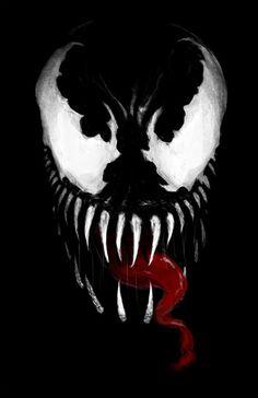 Venom, Spider man Enemie Art Print