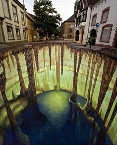 Amazing 3D Sidewalk Artwork