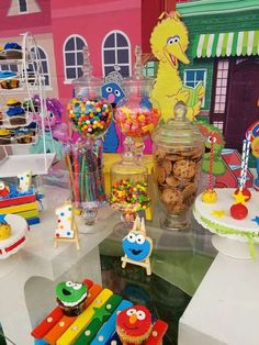 Nelly S's Birthday / Sesame street - Photo Gallery at Catch My Party Boys 1st Birthday Party Ideas, Baby Boy First Birthday, Toy Story Birthday, Mickey Mouse Birthday, 1st Boy Birthday, Minnie Mouse, Sesame Street Cake, Sesame Street Birthday, Elmo Party