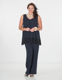 Tanita navy top and Remy trouser