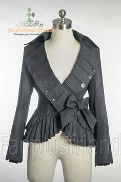 fanplusfriend - Elegant Goth Gothic Pirate Pleat Short Jacket, $72.10 (http://www.fanplusfriend.com/elegant-goth-gothic-pirate-pleat-short-jacket/)