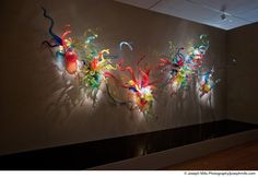 Dale Chihuly (American, b. 1941)  Confetti Anemone Wall, 1999  Glass, 12 x 19 ft.  Oklahoma City Museum of Art. Museum Purchase, 2004.040