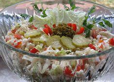 Sałatka gyros - Obżarciuch Guacamole, Camembert Cheese, Potato Salad, Cabbage, Potatoes, Vegetables, Ethnic Recipes, Food, Vegetable Recipes