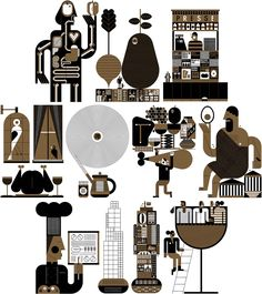 This is the online portfolio of the Canadian illustrator Raymond Biesinger. Grid Layouts, Flat Color, Online Portfolio, Design Show, Layout Design, Character Design, Vector Illustrations, Artwork, Illustrator