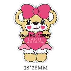 50pcs 38*28MM Big Hair Bow Lovely Bear Flat Back Resin Cartoon Planar Resin DIY Craft For Home Decoration Accessories 70420-9