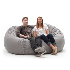 Spend hours relaxing in this comfortable and durable XXL 7-foot FufSack memory foam lounge bean bag chair. The FufSack bean bag chair is perfect to use while watching movies, reading a book, or playing video games.