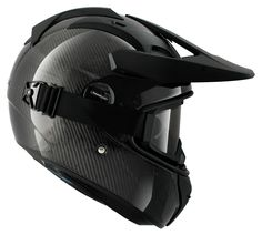 The Shark Explore-R Carbon Helmet is an adventure, on or off-road style helmet with an aggressive and light weight carbon shell. Based on Shark's new Vision ...