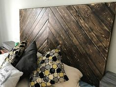 Beautiful Solid Pine Wood Headboard made to order. King size, queen, twin, full or custom sizing available. All stain colors or custom staining available. This headboard hangs on your wall behind the bed. This gives you the freedom to choose height and placement of your headboard, while taking away the hassle of attaching to your frame or moving it around with your bed when rearranging or cleaning. To order choose a size and color from the drop down menu. There is also a color chart in pics…