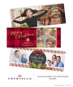 Natale Facebook Timeline copre per fotografi  1199 di FOTOVELLA, $18.00