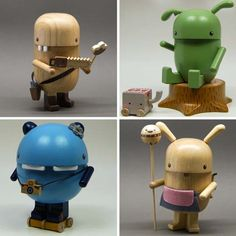 Wonderful Wood contemporary,modern monster sculptural tactile wood toys great for inquisitive children and adults