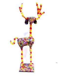 deer  animal Collectibles  whimsical  sculpture by MIRAKRIS, $150.00