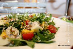 salad with eggs, wasabi and caviar