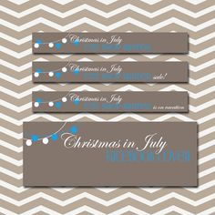 Christmas in July Etsy banner set Grey and by PolkaDotSquareDesign, $25.00