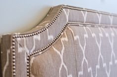 patterned headboard for a modern bedroom
