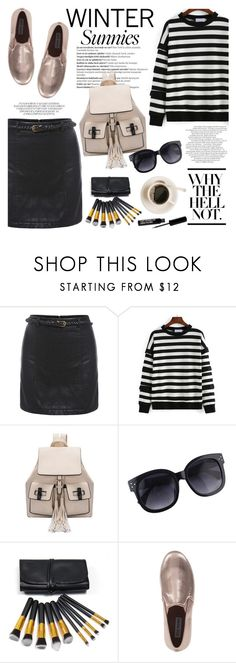 """""""Winter Sunnies"""" by helenevlacho ❤ liked on Polyvore featuring Balmain, Steve Madden, contestentry and wintersunnies"""