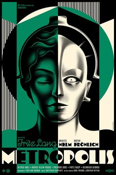 La Boca created a beautiful poster design to celebrate the anniversary of the Fritz Lang sci-fi classic, Metropolis. Metropolis Film, Metropolis Poster, Metropolis Fritz Lang, Film Poster Design, Movie Poster Art, Poster On, Poster Series, Old Film Posters, Cinema Posters
