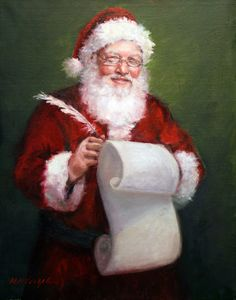 Santa with a Scroll (by Mary Miller Veazie)