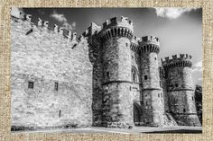 Rhodes island black and white photo print vintage by Milras