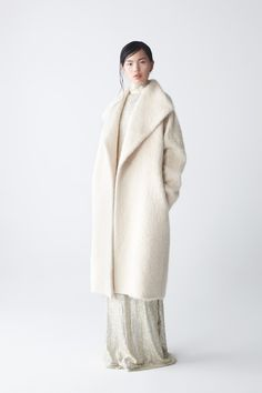natan alpaca coat with ava sequin dress, by neemic