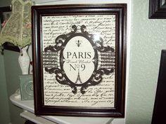Shabby Paris distressed decorative frame by JulieannasCreations