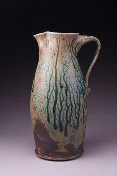 Stoneware Pitcher by jhowepottery