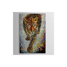 Hand Painted Oil Painting Animal Tiger 1304-AN0067 ($59) ❤ liked on Polyvore featuring home, home decor, wall art, animal paintings, oil paintings, tiger painting, animal oil painting and animal wall art
