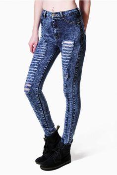 Destroyed Acid Jean