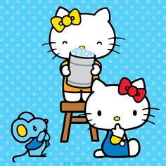 "Hello Kitty does the ""Ice Bucket Challenge!"""