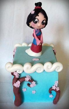 Mulan Chibi Topper Cake by giada