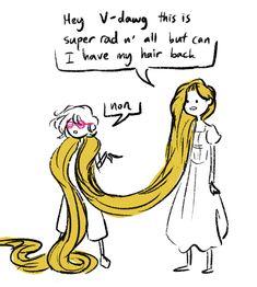 Tangled Rapunzel, Disney Tangled, Disney Love, Disney Magic, Rapunzel Funny, Tangled Funny, Tangled Princess, Princess Merida, Disney Memes