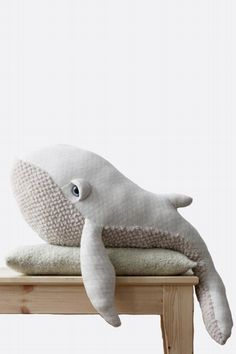 Whale cuddly toy: Its big size allows to hug it as a real size friend, use it as a pillow or just for decoration Made in France with love