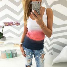 70336b82660 New Fashion 2017 summer women t-shirt Gradient rainbow gradual change print  O-neck short sleeve tee shirts tops female