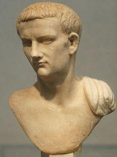 Bust of Caligula. Carrara (luni) marble. 37—41 CE. Height 16 cm. Inv. No. 4256. Rome, Roman National Museum, Palazzo Massimo alle Terme