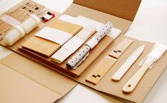 artistic notebook DIY kit http://www.fabricadetexturas.bigcartel.com/product/diy-kit-autoedicion-encuadernacion-artistica