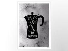 ESPRESSO – moderne Poster, abstrakte Kunstdrucke, zeitgemäße Wall Art Prints, Motivation, schwarz, Kaffee, Mocca, Italien, lustig, Humor von banum auf Etsy