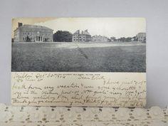 Antique Postcard Railroad Cancel Milton Academy Buildings, Milton, Massachusetts by KansasKardsStudio on Etsy