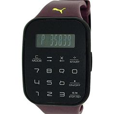 Puma Unisex Calculus Digital Chronograph Purple Plastic Strap Watch PU910531004 -- More info could be found at the image url.(This is an Amazon affiliate link and I receive a commission for the sales)