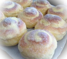 Ensaymadas!! Filipino sweet buns topped with creamed butter and sugar. Soft…