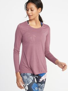 7958aefc03762 Lightweight Mesh-Back Performance Top for Women