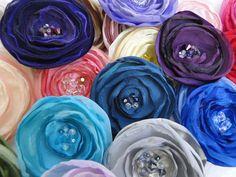 Fabric Flower handmade DIY wedding embellishment by PaperFlora