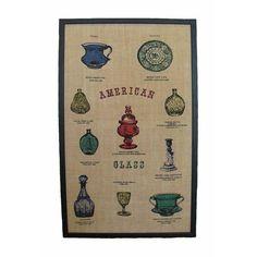 """American Glass"" Painted Burlap $90 Ladies love burlap!! http://shop.chairish.com/products/american-glass-painted-burlap"