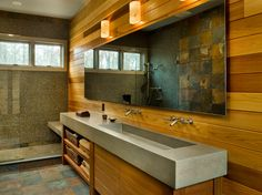 Custom Cast Concrete Sink Design. This is my dream bathroom.