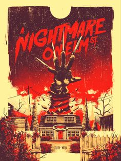 ► A Nightmare on Elm Street de Wes Craven ► By Marie Bergeron Halloween Movies, Halloween Horror, Scary Movies, Vintage Halloween, Horror Icons, Horror Movie Posters, Movie Poster Art, Retro Horror, Vintage Horror