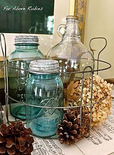 I heart Mason Jars OR 1001 Mason Jar Projects :: Anne @ DesignDreams by Anne's…