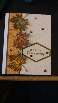 Super vintage cards stampin up paper ideas Fall Cards, Winter Cards, Holiday Cards, Handmade Thanksgiving Cards, Making Greeting Cards, Greeting Cards Handmade, Leaf Cards, Cricut Cards, Stamping Up Cards
