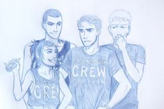 i-am-weis: crew shirts for the crew (noah is in the ether but he helped write on the shirts)