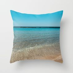 Buy Catharsis Throw Pillow by xiari_photo. Worldwide shipping available at Society6.com. Just one of millions of high quality products available.beach, sea, ocean, water, clear, clean, blue, horizon, summer, summertime, sunshine, hot, warm, season, photo, photography, nature, landscape, nikon, dslr, digital, photographer, catharsis, clean ,sand, waves, wave, beige, gold , yellow, reflection, white, sky, skyline, swim, swimming, happy, calm, relax